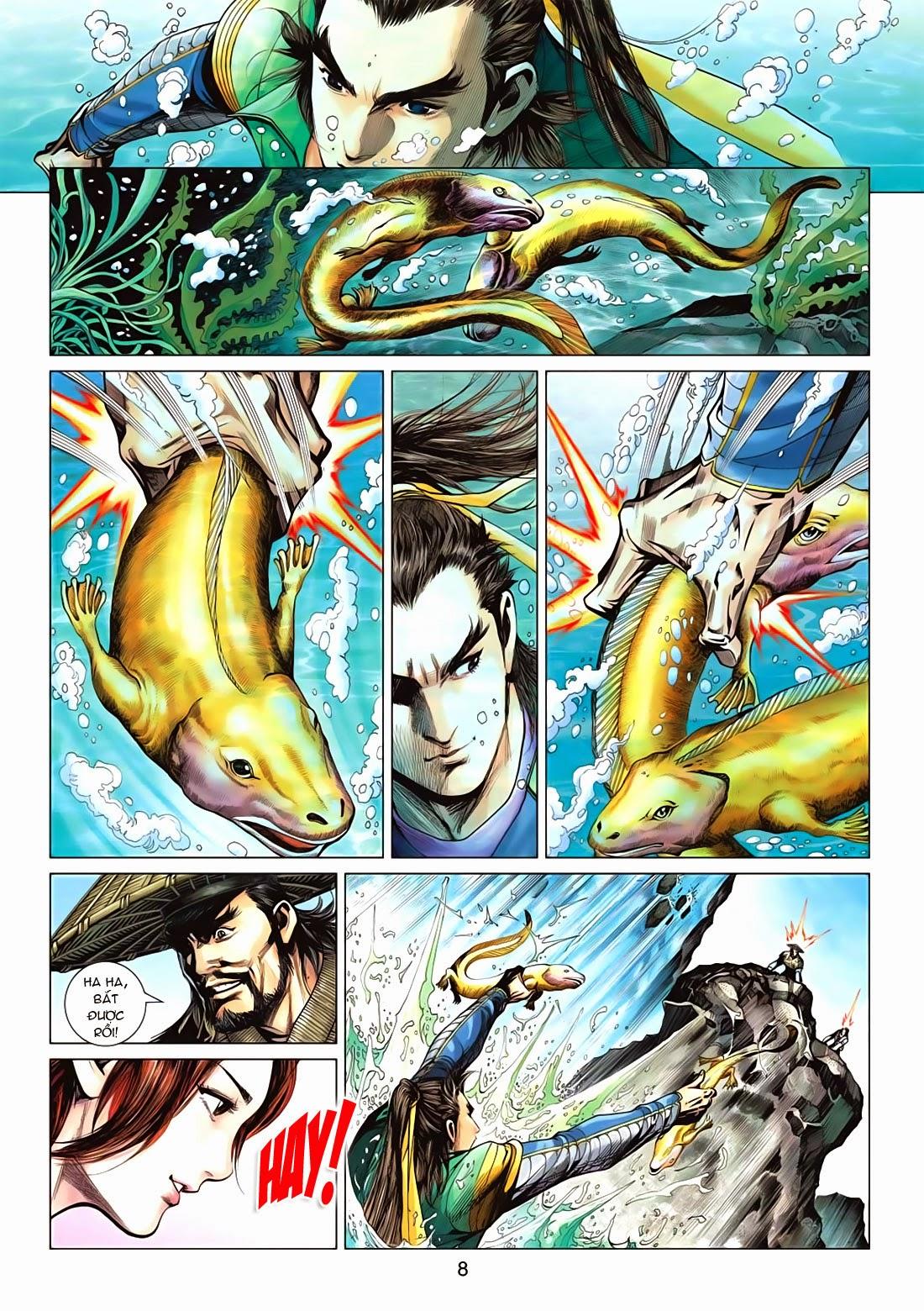 Anh Hùng Xạ Điêu anh hùng xạ đêu chap 72: ngư tiều canh độc trang 8