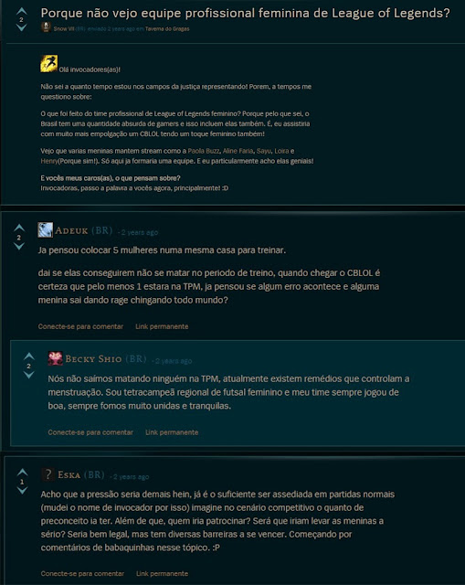 Nós resistimos: Mulheres no League Of Legends