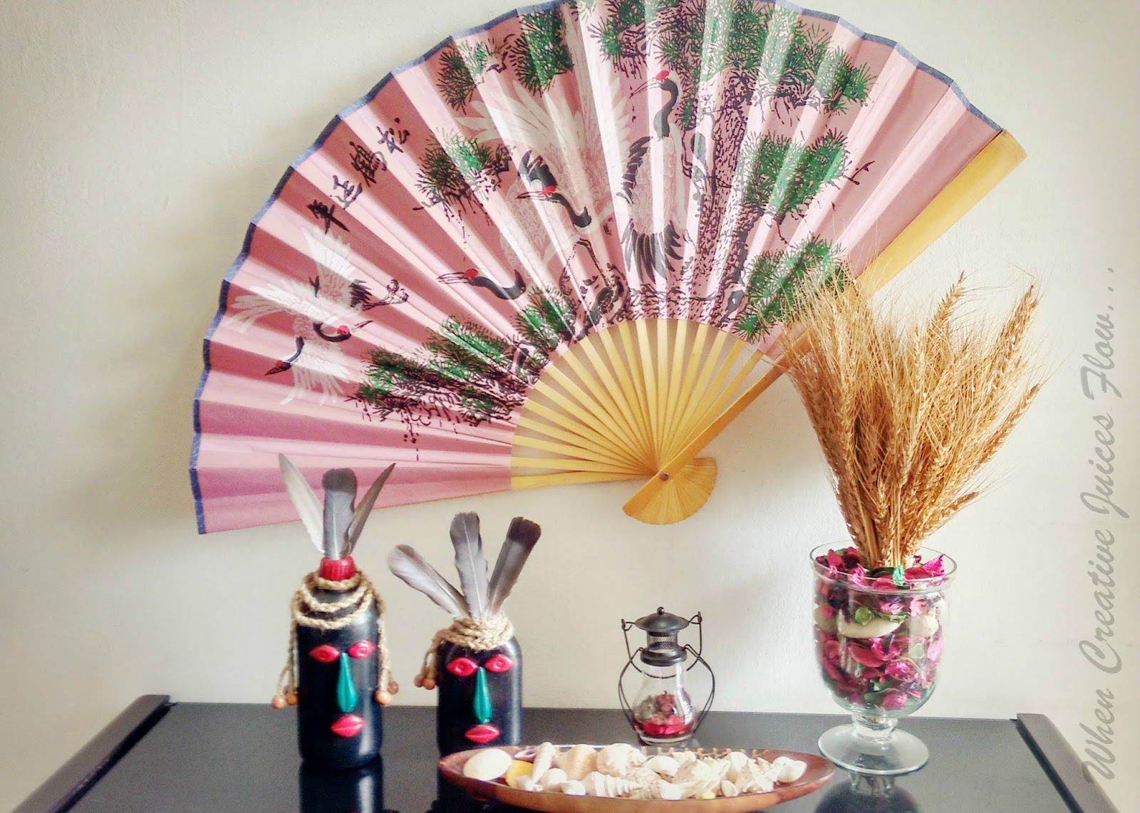 When creative juices flow...: an affair with hand fan