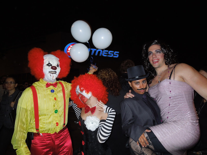 West Hollywood Halloween Carnaval clowns