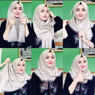 tutorial hijab terbaru simple style 3