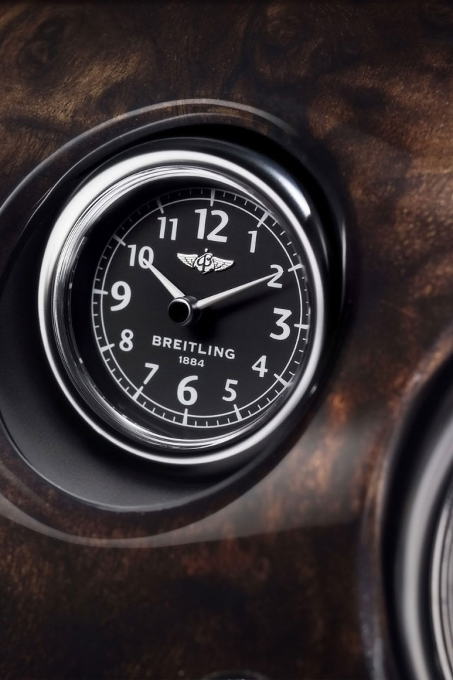 Flying Spur Breitling Clock Iphone Wallpaper Hd Wallpapers