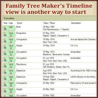 Family Tree Maker has a nice timeline view. Does your software?
