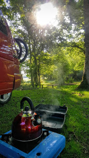 Boiling a kettle whilst camping