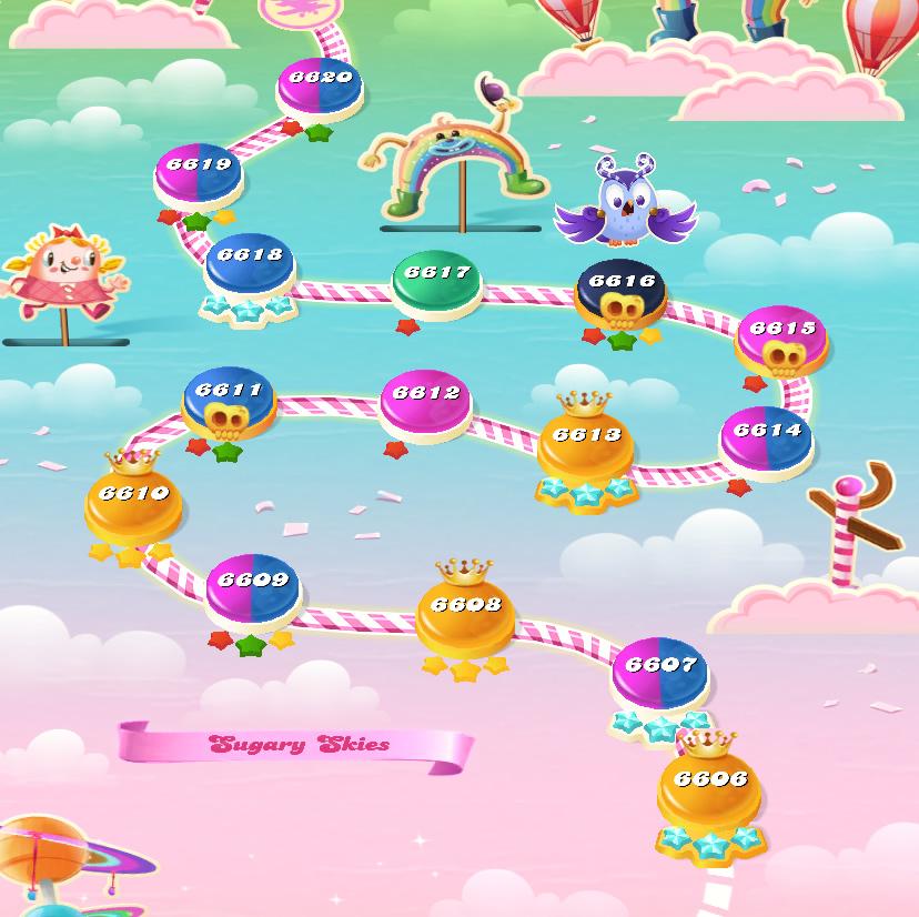 Candy Crush Saga level 6606-6620