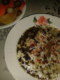 Yoğurt çorbası,  buğday çorbası, ıspanaklı çorba