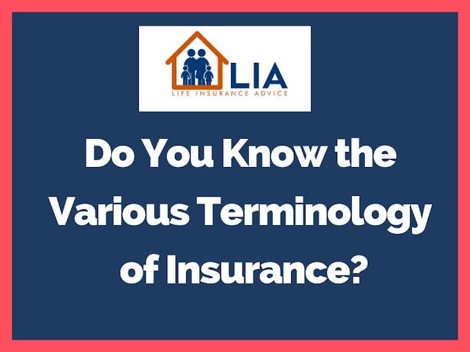 Do You Know the Various Terminology of Insurance?