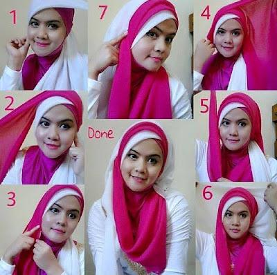 Tutorial Hijab Modern Dua Warna untuk Kebaya dan Wisuda alias Graduation Day