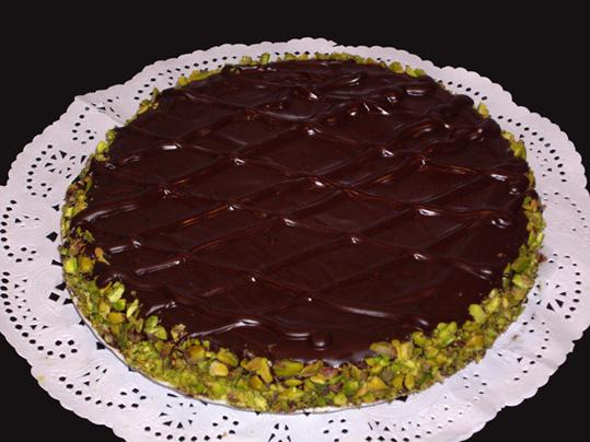 tarta de chocolate y pistacho