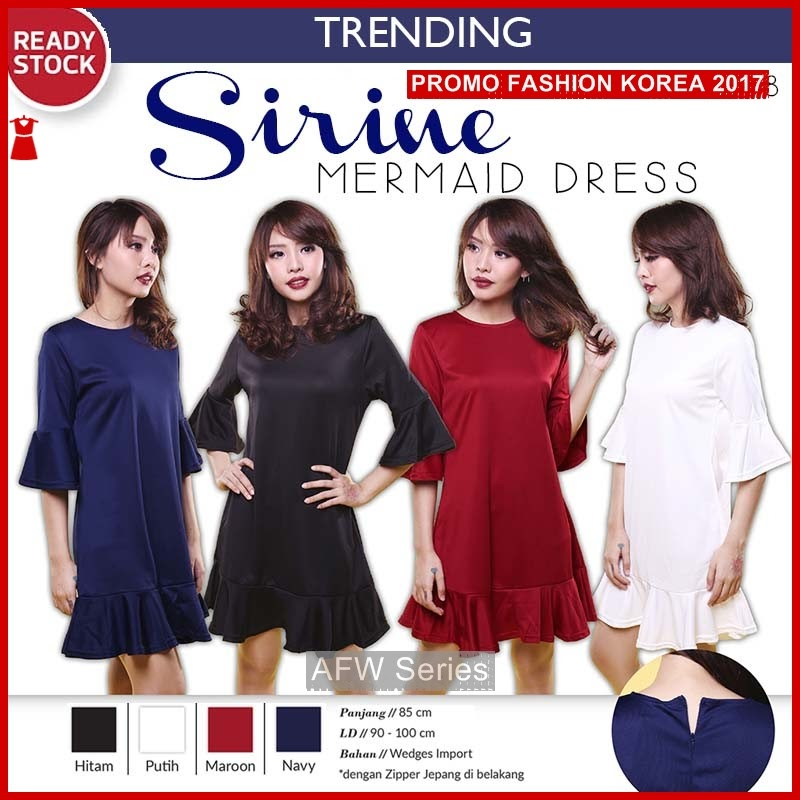 BAMFGW001 Sirine Dress Gaun Wanita PROMO BMG