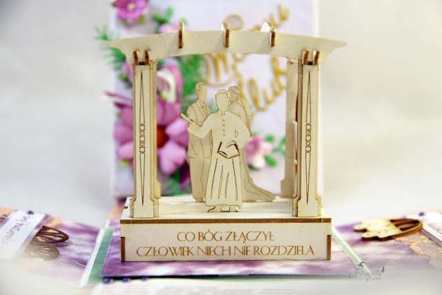 Co Bóg złączył, życzenia ślubne, AltairArt inspiracje, box z tekturką, na ślub, na zamówienie, kartka ślubna, jak przeazać pieniądze w prezencie ślubnym, życzenia na słodko