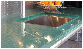 Desain Meja Dapur Dari Kaca Fiberglass Untuk Rumah Minimalis 1