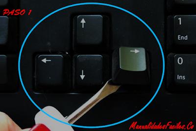manualidades con teclado viejo