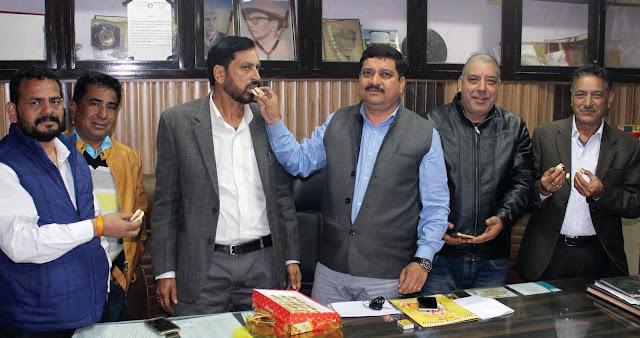 Celebration of the Bharatiya Janata Party's victory in Gujarat and Himachal Pradesh in Faridabad
