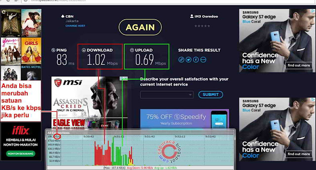sotware untuk mengetahui kecepatan internet