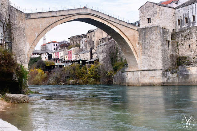 old bridge and Neretva river in Mostar