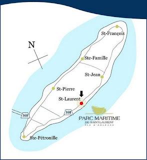 Île d'Orléans Map