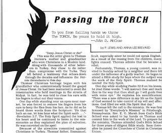 Passing The Torch Article in Advocate Dec 1988