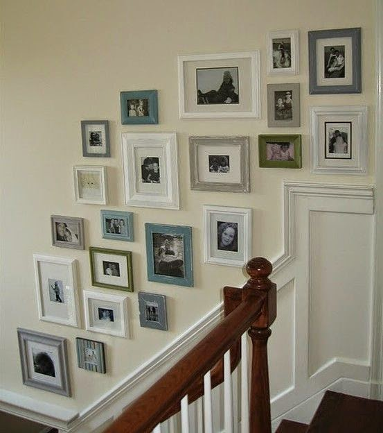 50 Creative Staircase Wall decorating ideas, art frames ... on Creative Staircase Wall Decorating Ideas  id=89675