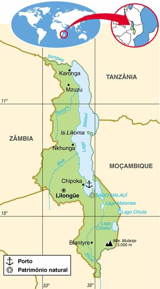 MALAWI, ASPECTOS GEOGRÁFICOS E SOCIOECONÔMICOS DO MALAWI