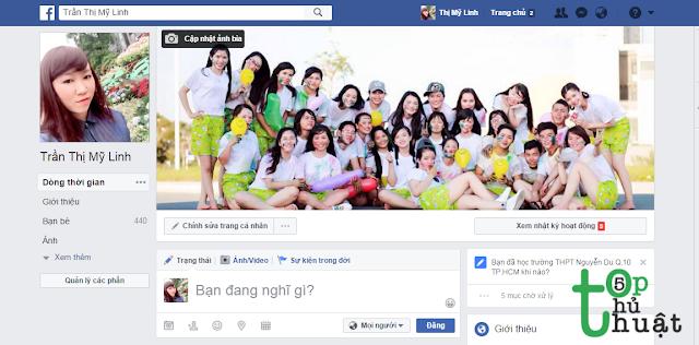 Truy cập trang Facebook
