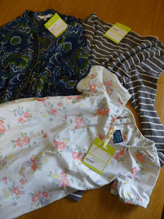 Picture of tops and child's dress bought at the St Elizabeth Hospice shop, one of the charity shops on Hadleigh High Street