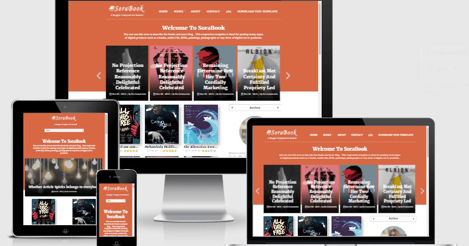 Sora Book - Responsive eBooks Blogger Template - Way Templates ...