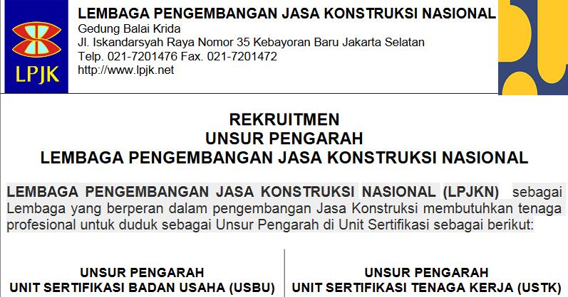 Rekrutmen LPJKN Kementerian Pekerjaan Umum  Rekrutmen