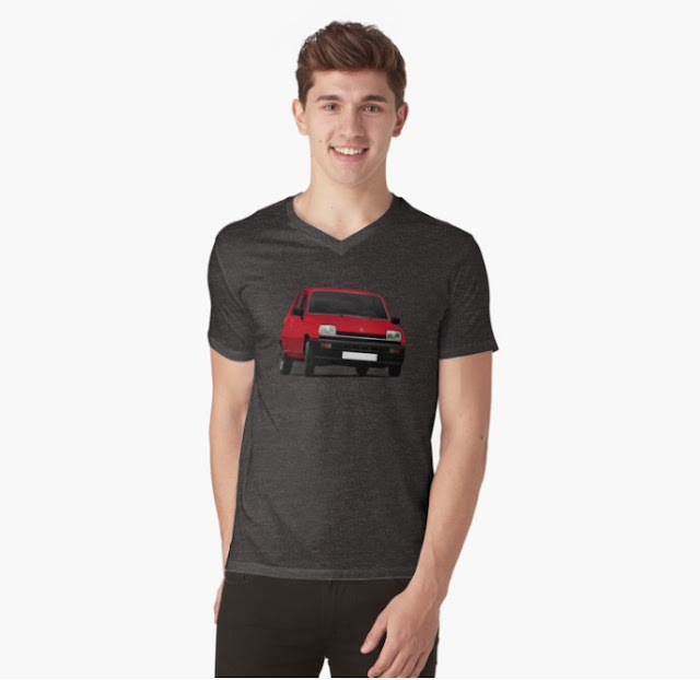 Renault 5 red t-shirts redbubble