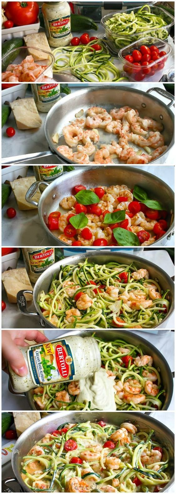One Pot Low Carb Shrimp Alfredo