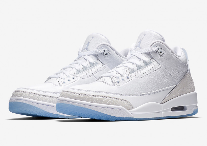 b2da9ffe7e5 First Look: Nike Air Jordan 3 Retro 'Pure White'