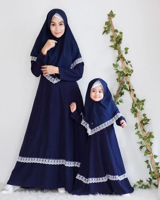 Model Baju Gamis Couple Ibu dan Anak Untuk Lebaran 2019