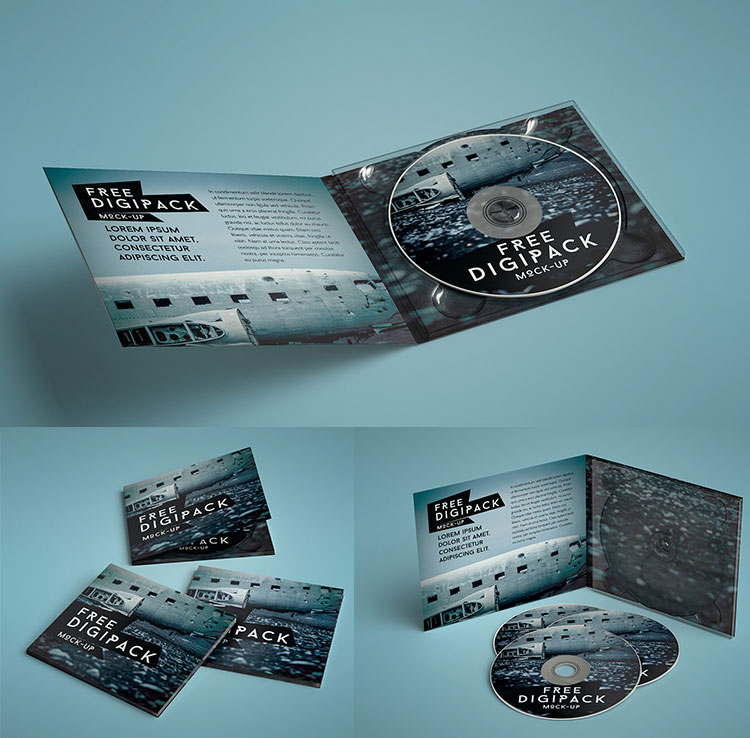 Free CD Case Mockup PSD