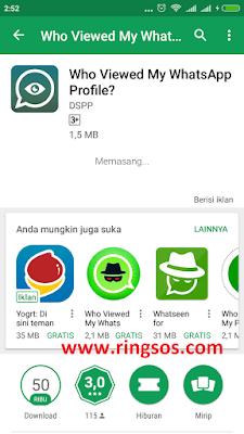 cara mengetahui siapa yang melihat profil whatsapp kita