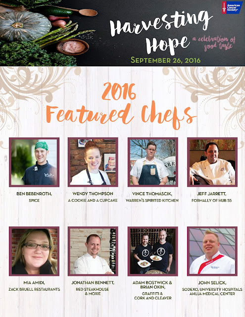 Featured Chefs for 2016 Harvesting Hope