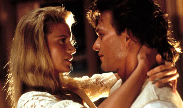 Kelly Lynch and Patrick Swayze in Road House