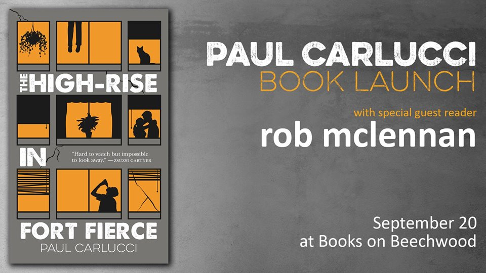 Rob mclennans blog paul carlucci rob mclennan books on beechwood ill be reading some of my own short stories from a manuscript in progress alongside paul carlucci at 6pm on thursday september 20 as part of the launch of fandeluxe Gallery