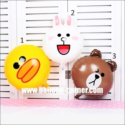 Balon Foil Line & Friends