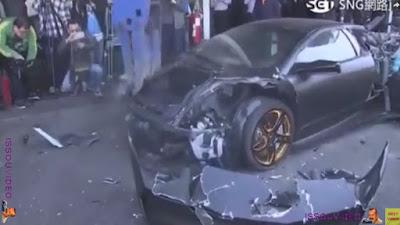 Lamborghini Murcielago destroyed issouvideo