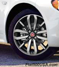 Fiat Spider Urbana Black Diamond Wheels