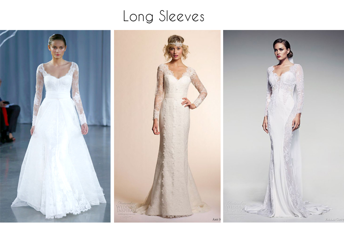 full length long sleeve wedding gowns and dresses