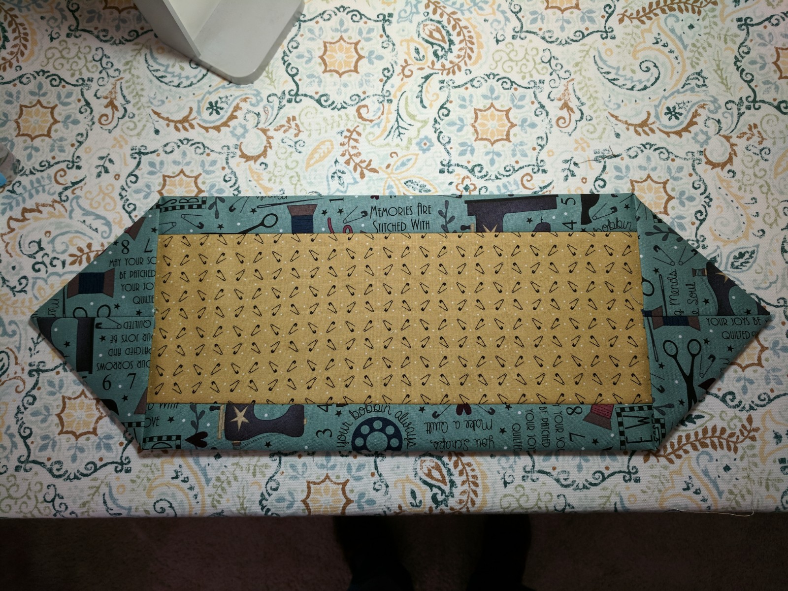Happy sewing room skinny minnie table runner for 10 minute table runner with batting