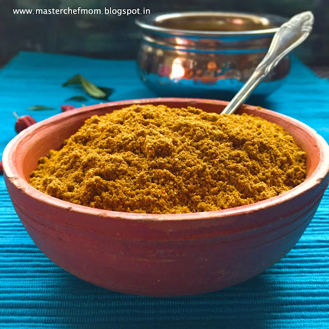 Sambar Powder | Sambar Podi Recipe by masterchefmom