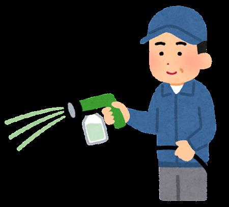 施肥のイラスト(液体肥料)