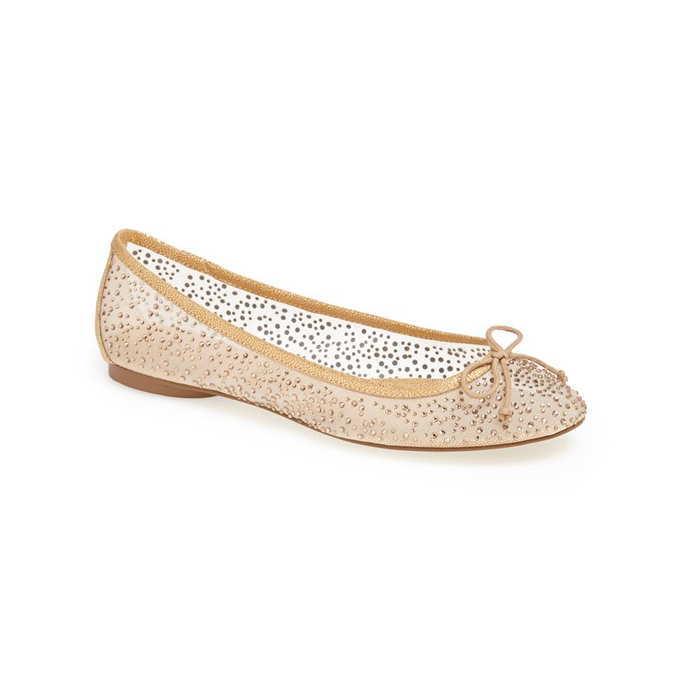 Selina Rose Gold Flat Bridal Shoes | bridal wedding and prom ideas
