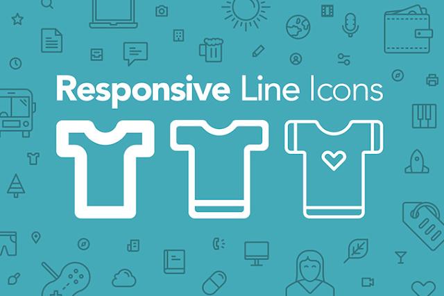 merupakan salah satu bab penting dari sebuah desain atau web 100 Free Responsive Line Icons