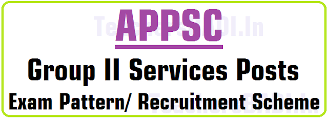 APPSC Group II Services Posts, Exam Pattern/ Recruitment Scheme