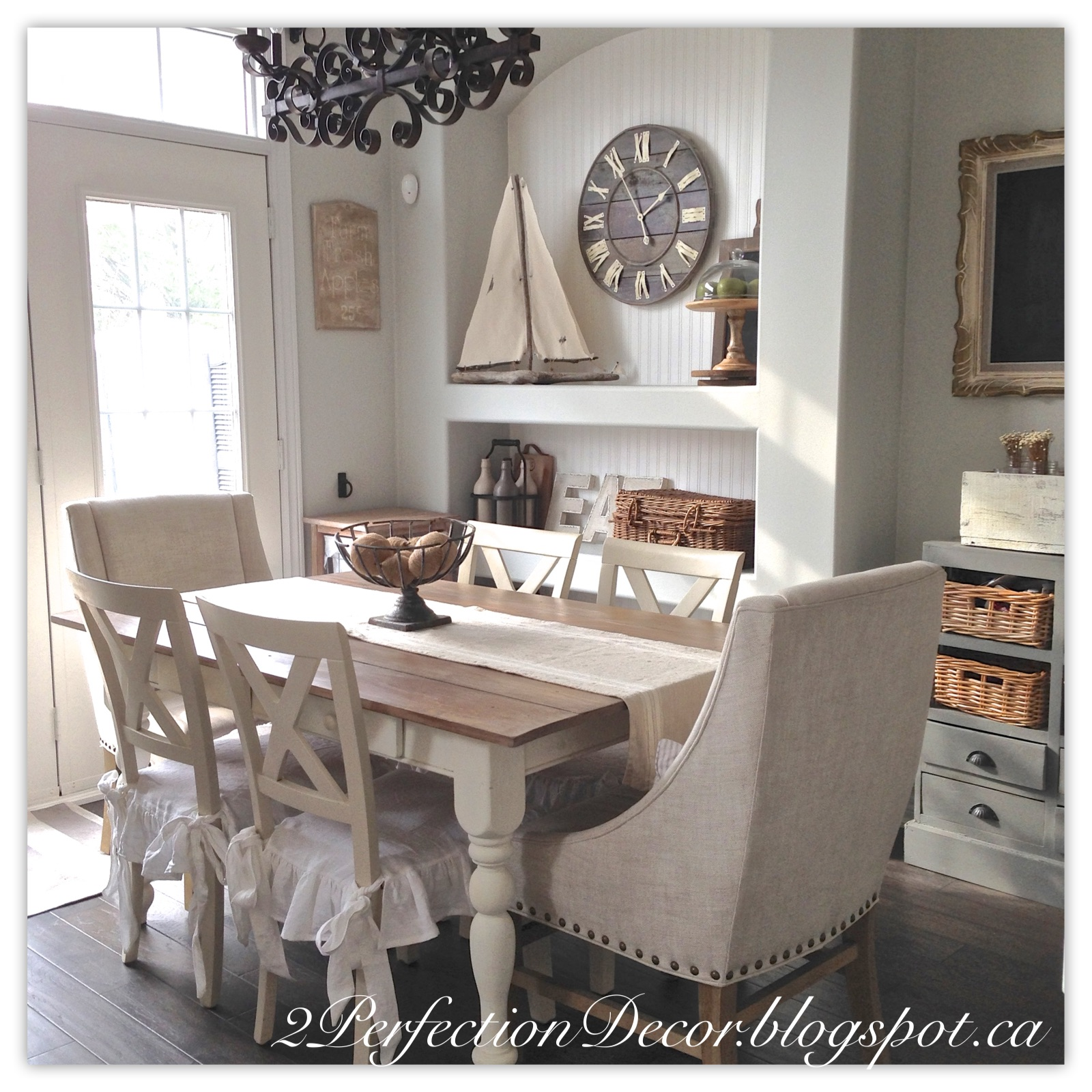 Decoration For Kitchen Table: 2Perfection Decor: Planking Our Farmhouse Table Top