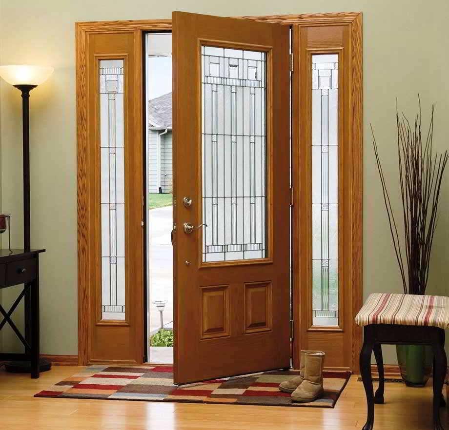ツ 40 Model Desain Pintu Utama Rumah Minimalis Contoh Gambar