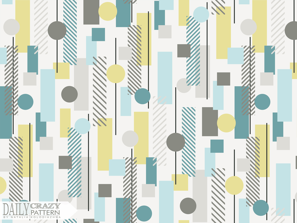 "Geometric art print for ""Daily Crazy Pattern"" project"